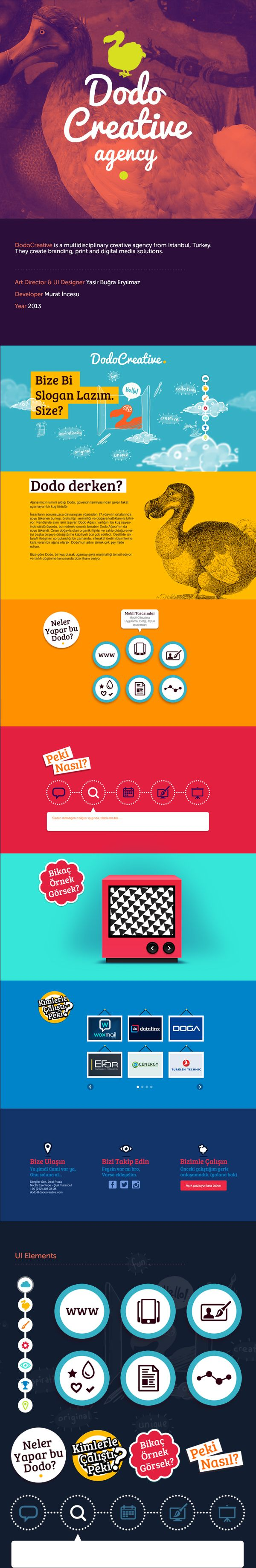 DodoCreative Website by Yasir Buğra Eryılmaz, via Behance