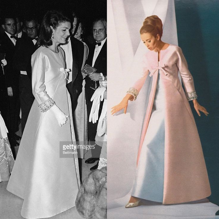 Jacqueline Kennedy Wedding Gown: Jackie Kennedy Wearing A Jean Patou Gown In 1965