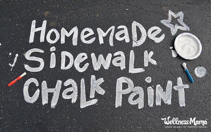 This simple homemade sidewalk chalk paint recipe combines calcium powder and water for a fast and fun recipe for summer fun.