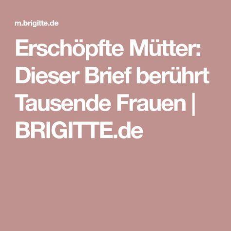 Erschöpfte Mütter: Dieser Brief berührt Tausende Frauen | BRIGITTE.de