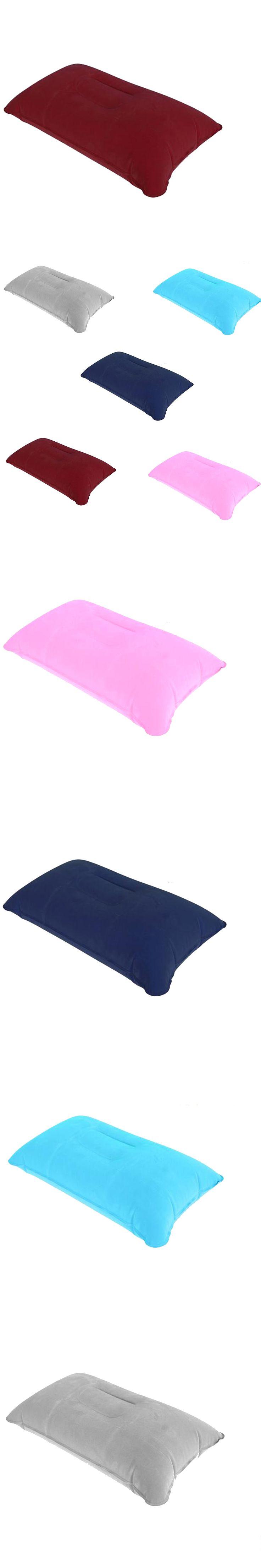 Dewtreetali Hot Sales Inflatable Pillow Travel Car Seat Chair Cushion Camp Beach Car Plane Head Rest Bed Sleep Car Cushions