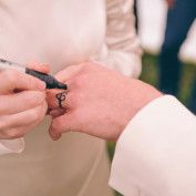 Alice in Wonderland Wedding - Anna Pumer Photography. Tattoo rings - talk about making it permanent!