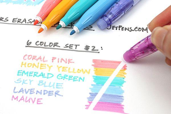 Love these pens! Pilot FriXion Colors Erasable Marker - 6 Color Set 2 - PILOT SFC-60M-6C2