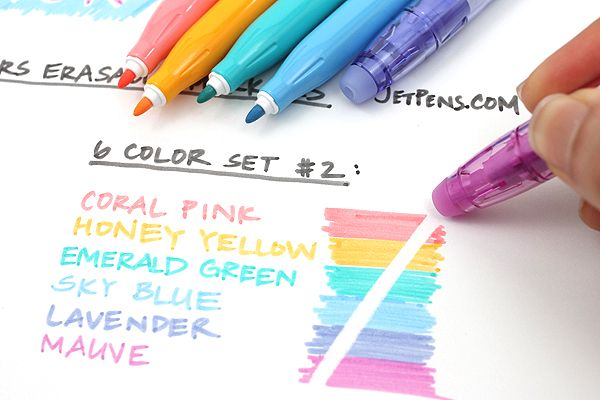 Pilot FriXion Colors Erasable Marker - 6 Color Set 2 - PILOT SFC-60M-6C2. I've noticed that this is one of my most popular pins....just wanted to let everyone know they REALLY WORK! -JodiB