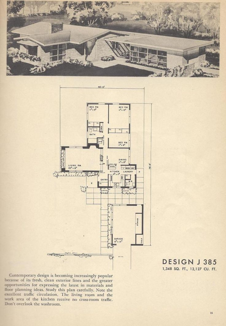 17 Best Images About Mid Century Floor Plans On Pinterest