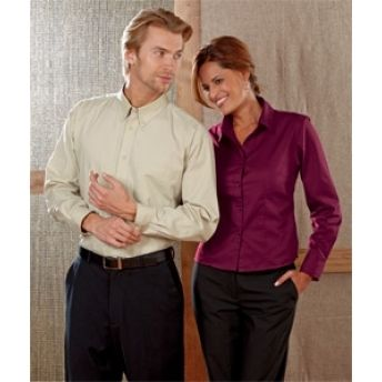 8976 UltraClub Ladies' Whisper Twill Shirt. Buy at wholesale rates.
