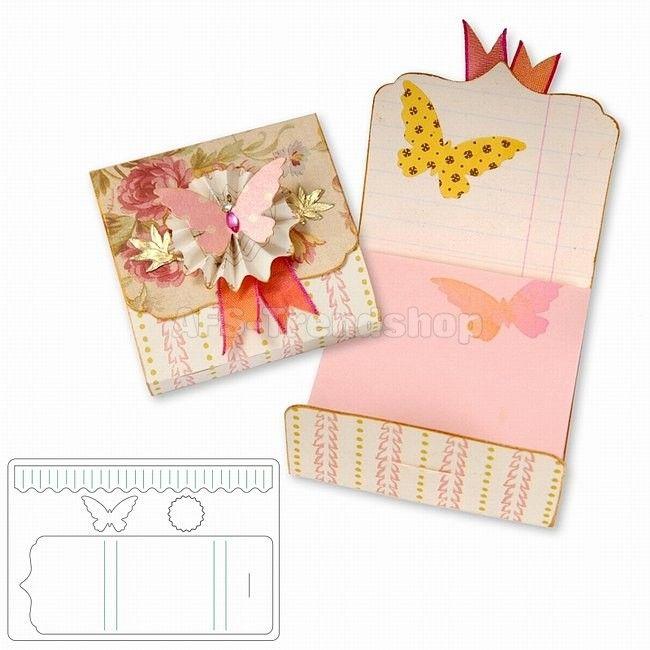 Sizzix Bigz L Die Notepad Cover Stanzschablone Notizbuch-Umschlag, AF