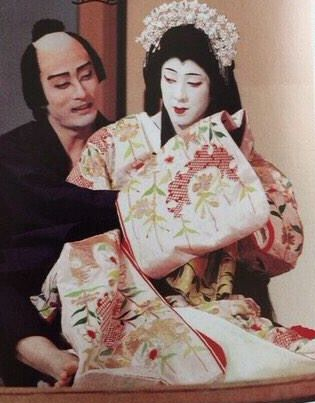 (L)Nizaemon Kataoka (R)Tamasaburo Bando 片岡仁左衛門 & 坂東玉三郎