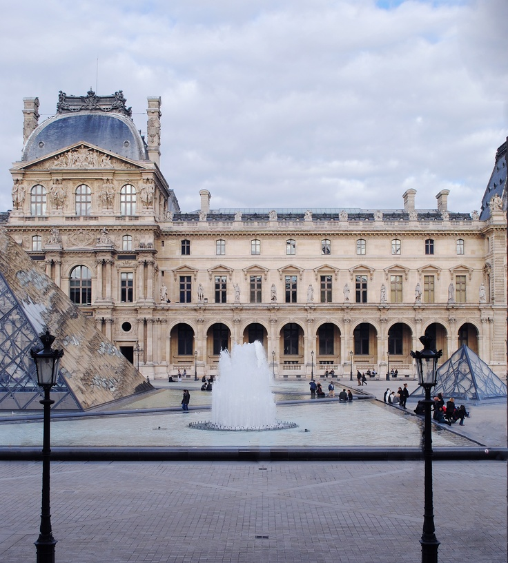 Modern and Historical architectural combinations. Louvre, Paris.