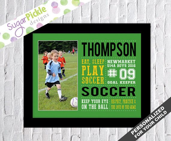 Soccer art, Soccer Print, Soccer Subway Art, Soccer Stats Art, Soccer Wall Art, Soccer printables, Personalized with YOUR CHILD'S PICTURE      #SoccerSubwayArt #SoccerPrint #SoccerWallArt #SoccerStatsArt #SoccerTheme #Personalized #TeamGift #SoccerPrintables #SoccerDecor #SoccerArt
