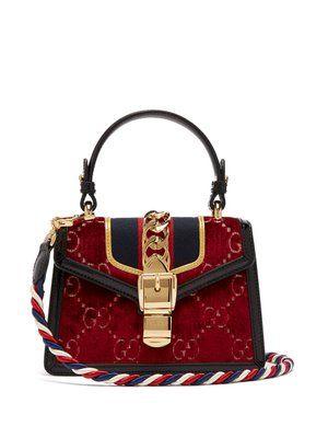 03f7e27b609 Sylvie mini velvet cross-body bag