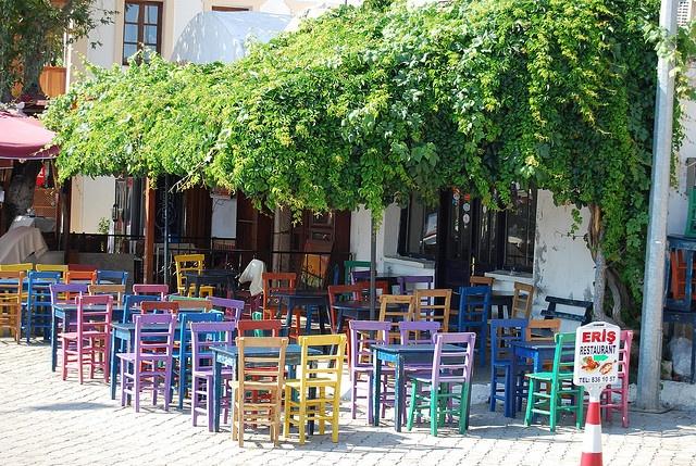 Yellow, Blue, Green, Red & Purple by Alessandra Kocman, via Flickr -- Kaş, Antalya, Turkey
