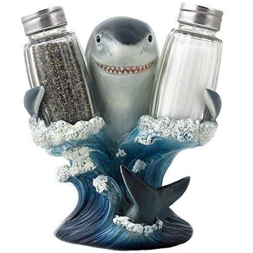 Salt and Pepper Shakers Set Shark Week Jaws Fans Novelty Bar Home Kitchen Decor
