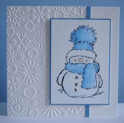 Stamp by Penny Black Snowflakes embossing folder by Cuttlebug                                                                                                                                                                                 More