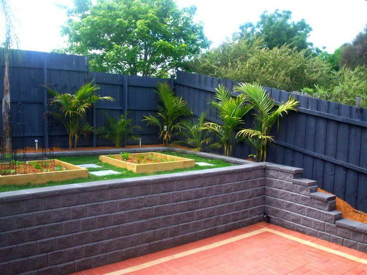 DIY Retaining Wall - Simple Steps for Building Retaining Wall with blue colour