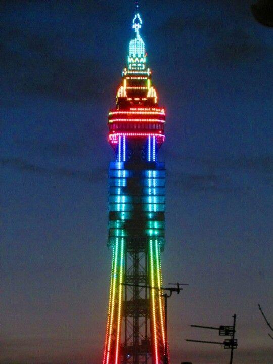 Blackpool tower lit up !!!