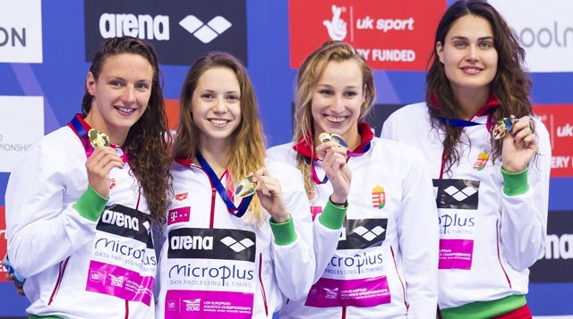 It was also a historic night for Hungary as Katinka Hosszu won 200m Individual Medley gold, then returned for 100m Backstroke silver, while Boglárka Kapás, Laszlo Cseh, Tamás Kenderesi and Richárd Bohus all landed individual medals.  The Hungarians then closed the night in style, capturing gold in the women's 4x200m Freestyle Relay for their seventh medal of the night with Hosszu swimming the anchor leg for her fourth title of London 2016.