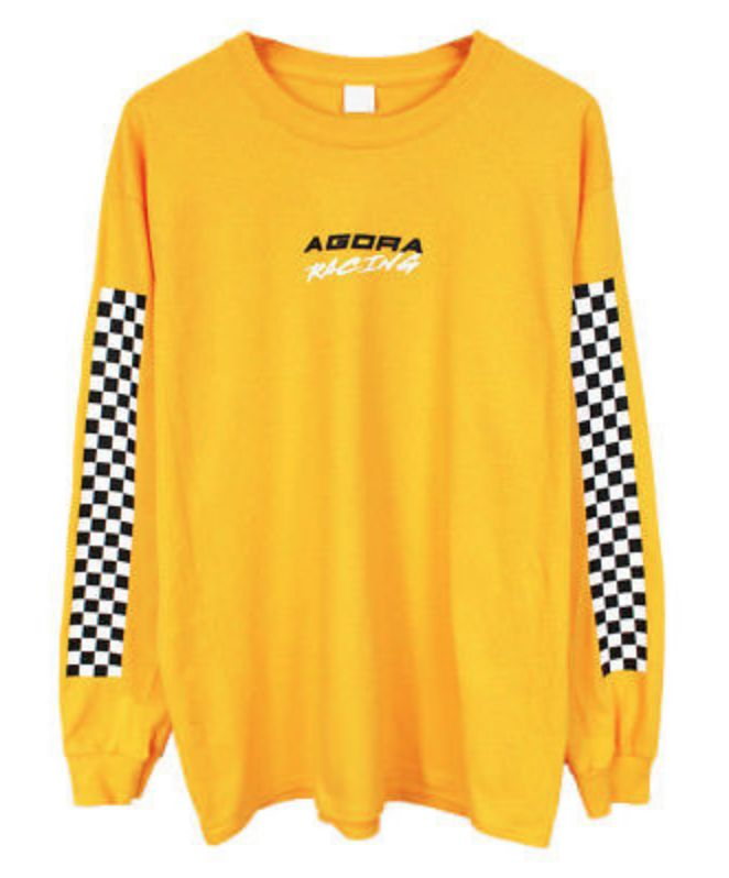d8a233cffe92 FOR SALE: Agora Racing Long Sleeve T Shirt Top yellow palace vans thrasher  NEW | clothes,shoes,etc . in 2019 | Outfits, Fashion outfits, Cute outfits