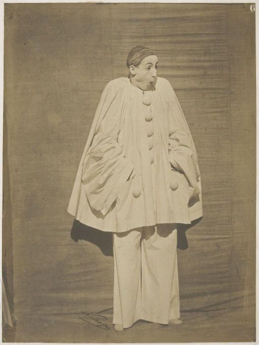 Gaspard-Félix Tournachon (Nadar) Adrien Tournachon Pierrot surpris - Album des figures d'expression du mime Deburau, Pl.6