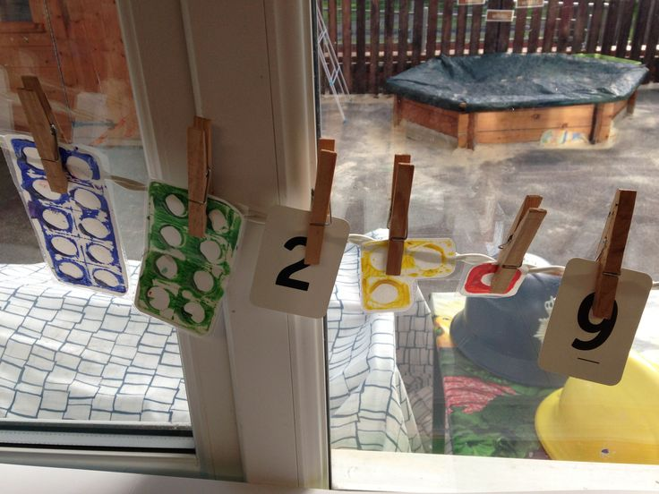 Numicon number line on the window!