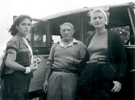 Dora Maar, Picasso & Lee Miller 1937.