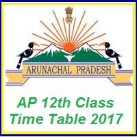 Arunachal Pradesh Intermediate Time Table 2017 :APBSE 12th Date Sheet 2017:Download 12th Class Date Sheet 2017 at www.arunachalpradesh.gov.in/education