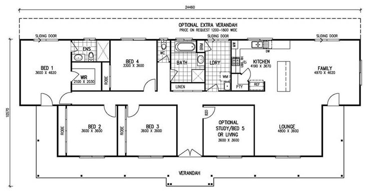4 bedroom House plans - Google Search