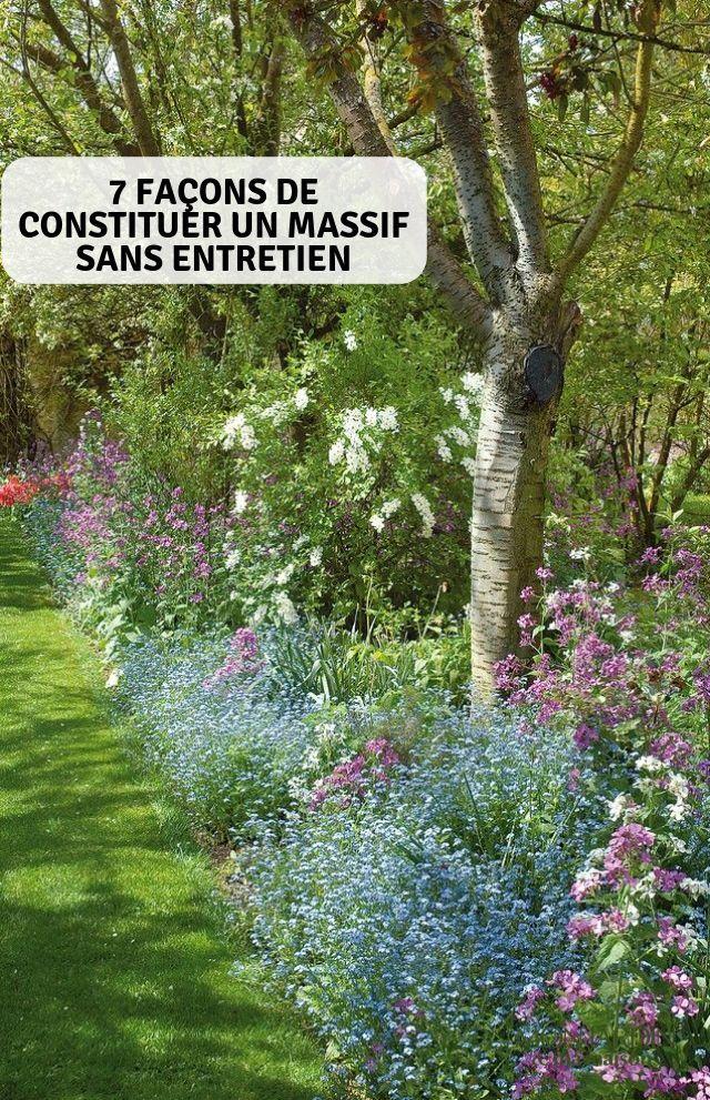 7 façons de constituer un massif sans entretien | Gardening ...