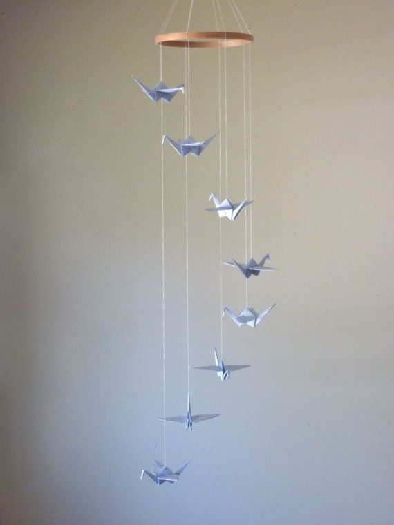 CAuse Mobile's are NOT JUST FOR BABIES! Origami Crane Mobile Children Decor  Baby by SpareBedroomStudio, $28.00