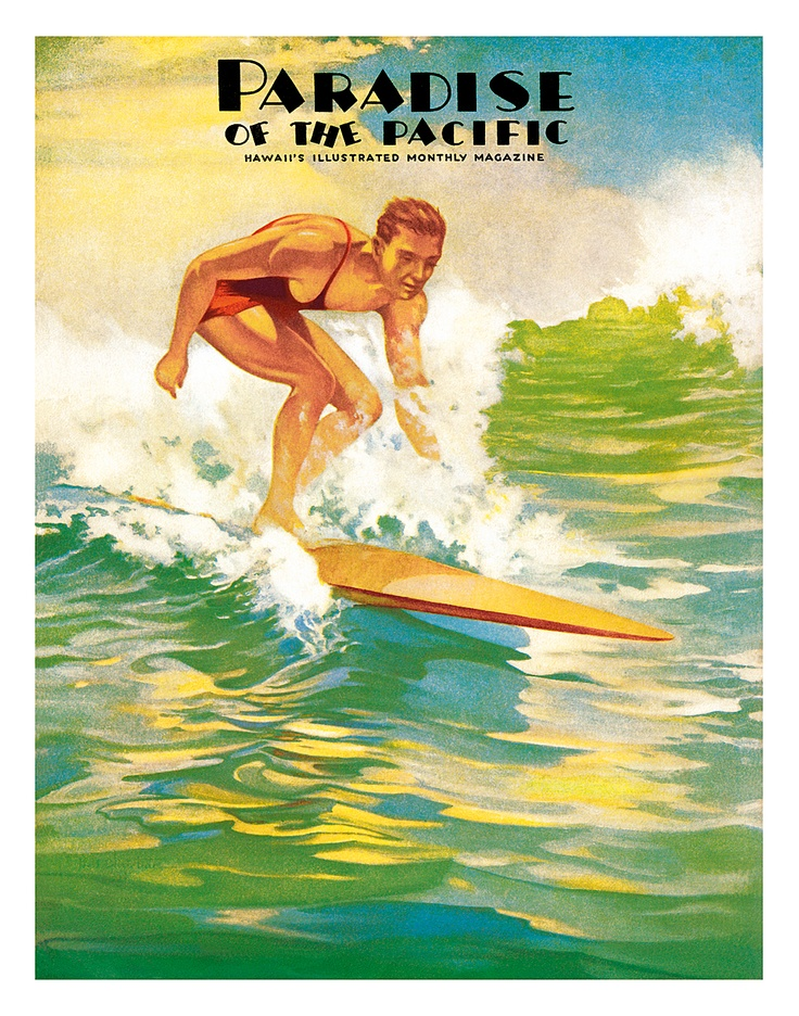 Paradise of the Pacific Surfer c.1930s $9.98. Vintage SurfVintage HawaiianHawaiian ...