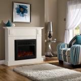 Luxo Grace 1600W Electric Fireplace Heater - White