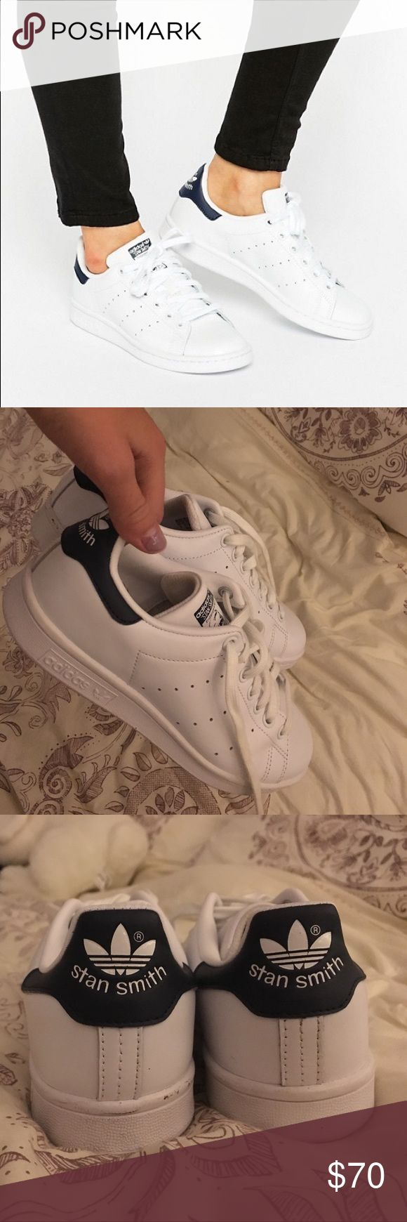 Adidas Stan Smith Sneakers WORN 2 TIMES Stan Smith Adidas shoes. Really clean and very good condition lots of room and very comfy!     Tags: Adidas, Nike, Converse, Vans. adidas Shoes Sneakers