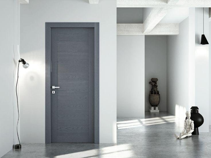 FBP porte | Collezione LAURA Mod. 309 Essenza: rovere - Colore: semi-coprente laccato grigio #fbp #porte #legno #door #wood