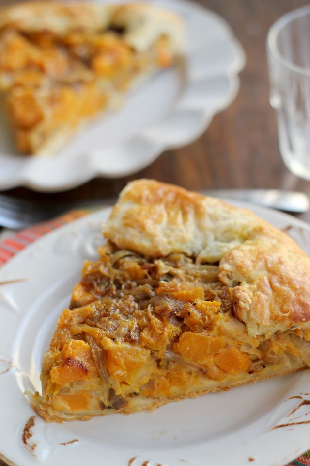 Butternut squash and caramelized onion galette, oh my, I can taste ...