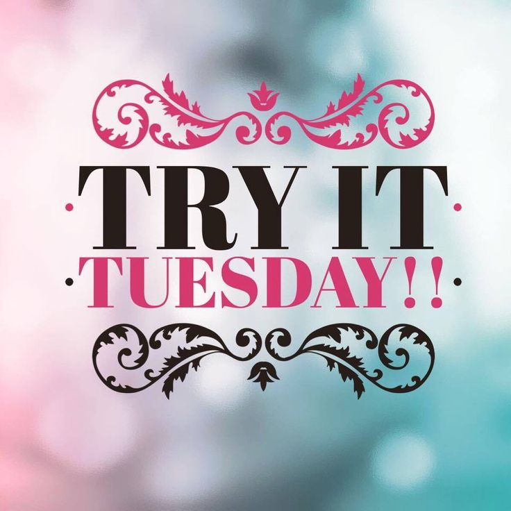 """Tuesday Thinking   Caption maybe along the lines of """"try it! We all have something we say were gunna try but keep pushing it off!! What a better day to try it then today? :)"""""""
