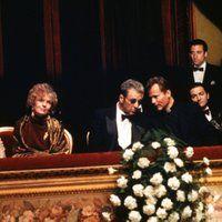 <a href='/name/nm0000199/?ref_=m_ttmi_mi_tt'>Al Pacino</a>, <a href='/name/nm0000412/?ref_=m_ttmi_mi_tt'>Andy Garcia</a>, <a href='/name/nm0000473/?ref_=m_ttmi_mi_tt'>Diane Keaton</a>, <a href='/name/nm0001068/?ref_=m_ttmi_mi_tt'>Sofia Coppola</a>, <a href='/name/nm0001698/?ref_=m_ttmi_mi_tt'>John Savage</a>, <a href='/name/nm0001735/?ref_=m_ttmi_mi_tt'>Talia Shire</a>, and <a href='/name/nm0637038/?ref_=m_ttmi_mi_tt'>Don Novello</a> in <a href='/title/tt0099674/?ref_=m_ttmi_mi_tt'>The…