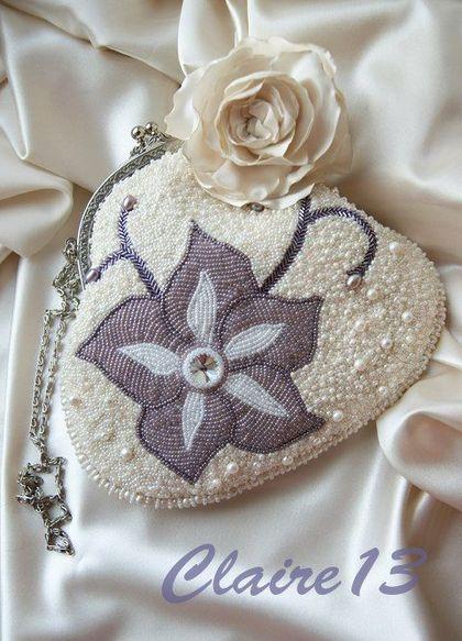 """Сумочка """"Сбежавшая невеста"""" - сумочка,маленькая сумочка,Вышивка бисером"""