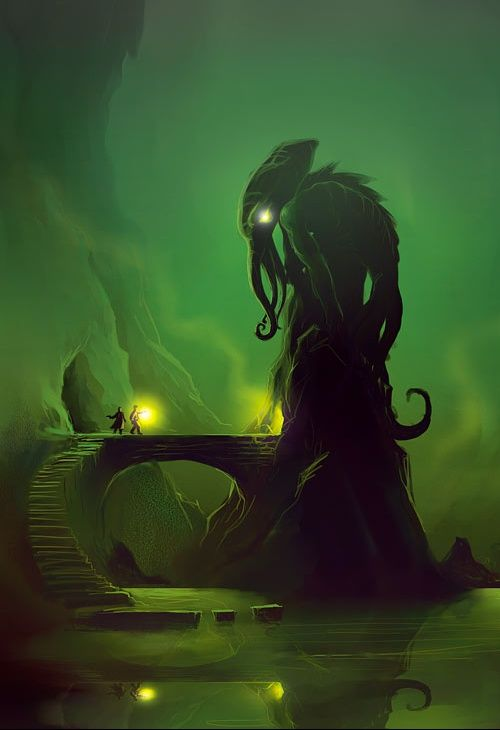 Image of the great Cthulhu via The Lovecraftsman