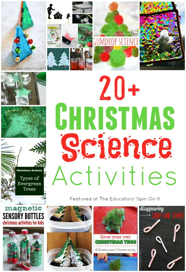 20+ Christmas Science Activities for Kids featured at The Educators' Spin On It