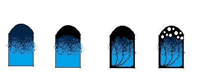 tutoriel nailart d'hélo: nail art papillon On commence par faire un degradé de fan brush de bleu clair et de bleu foncé. -Ensuite on fait comme une french noir comme sur l'image 2 et on rajoute de trait fin comme sur l'image 3 et en faisant le contour de l'ongle toujours au vernis noir et le pinceau fin. -Puis faite des points blancs de différente taille au dooting tool sur la partie noir et pour finir rajouter au pinceau fin des paillettes sur les fins traits noirs.