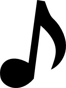 Musical Note. We used this template on chalk paper and card stock paper. We used the chalk notes with our centerpieces and card stock ones we used as garland on our serving tables.