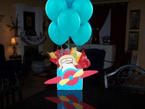 Airplane Pilot  Plane Birthday Party Centerpiece by Play Patterns on Etsy
