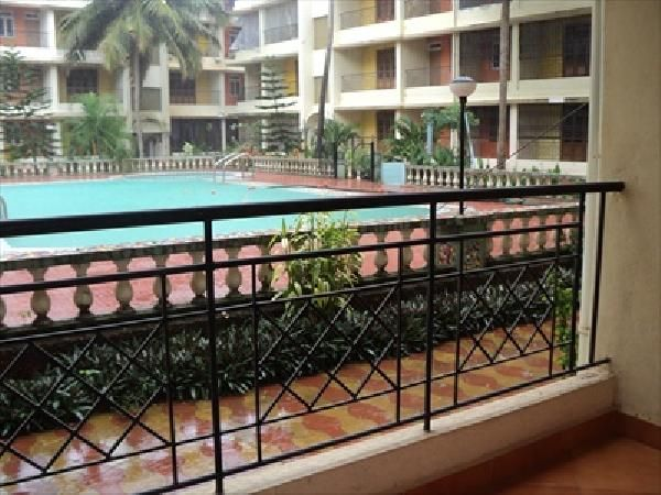 Flat for Sale at Calangut  ,Ground floor, 2 bedrooms, living, dining, kitchen, bath & toilet, balconies, facing swimming pool, in a complex with security, open car park, around 1 km from Calangute Church..For more info contact: mailto:allpropert... #goa #india #villa #property #homes