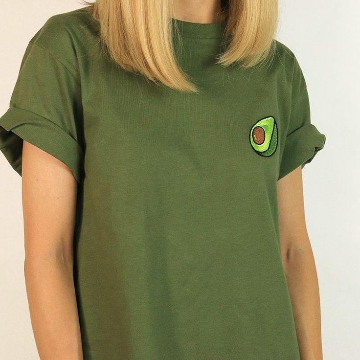 green tshirt, green t shirt,  avocado embroidery, embroidered avocado, avocado avocado t shirt, green avocado t shirt boogzel apparel,  aesthetic t shirt, tumblr t-shirt, aesthetic tshirt, pale grunge, aesthetic grunge, pale goth, outfit, pale, indie, hipster