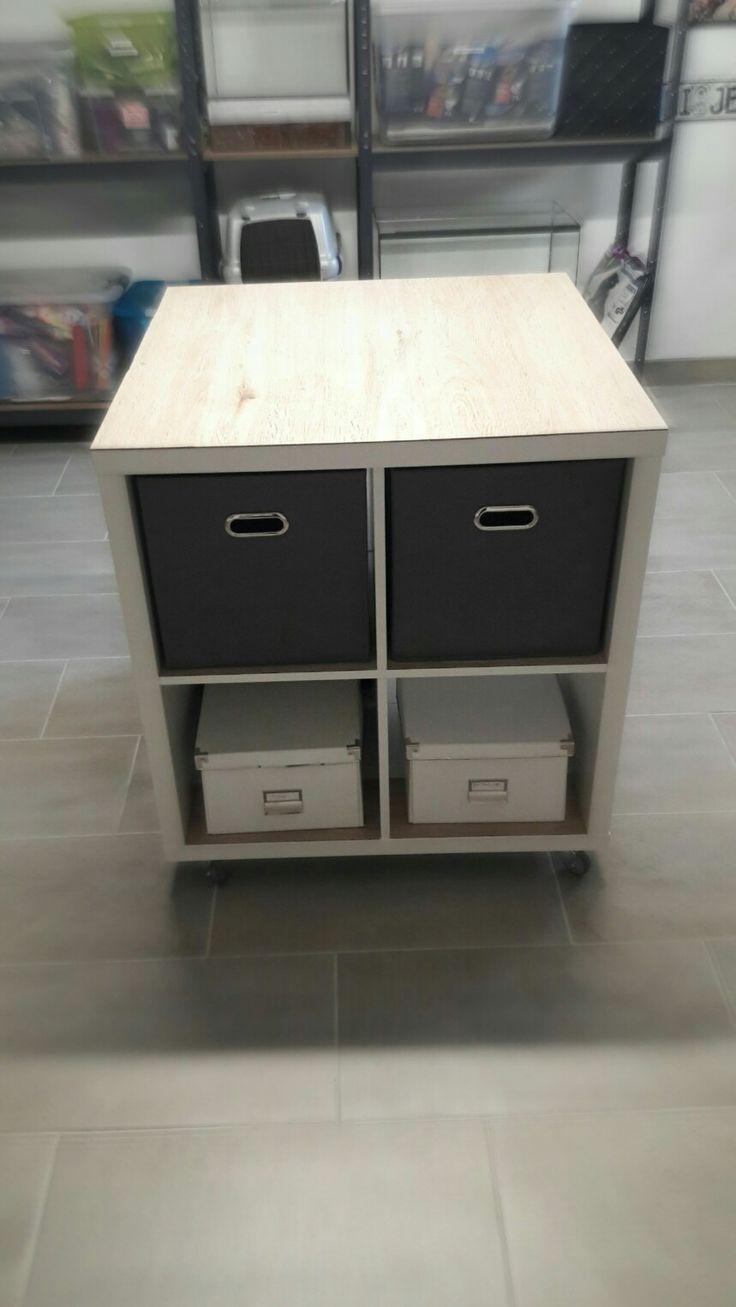 Ikea hack Arbeitstisch Keller Vinyl