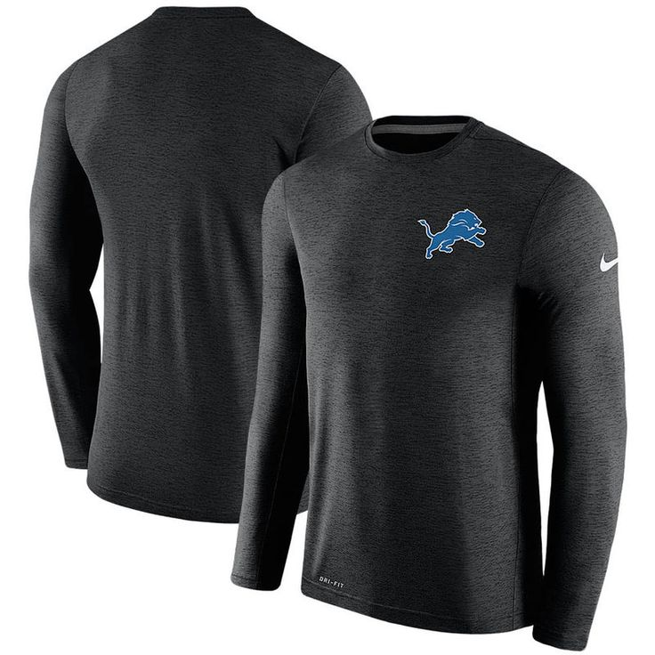 Detroit Lions Nike Coaches Long Sleeve Performance T-Shirt - Black