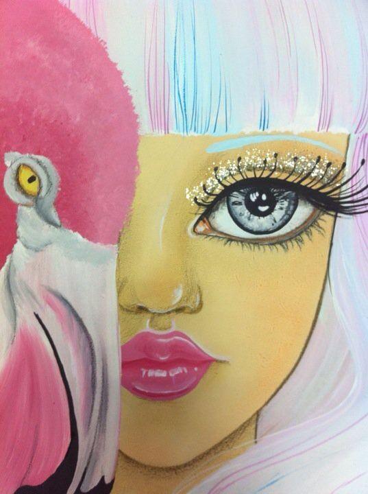 """Venere"" particolare Acrilico su legno Serena Solange Carluccio #pink#"