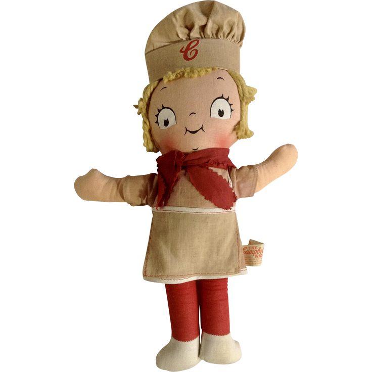 Campbell Kids Girl Doll Knickerbocker 1973 Campbell Soup Company