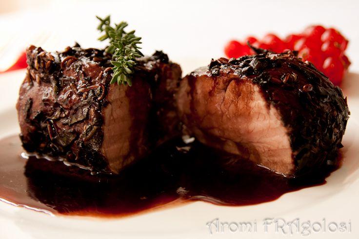 Filetto di maiale in salsa di Morellino di Scansano e miele di castagno