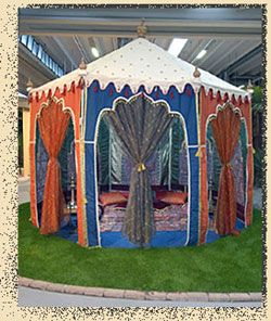 Dewaan-e-khass, especially designed for garden parties in your back yard. This tent is more than welcome to live in my yard and be neighbors with my lavuu.